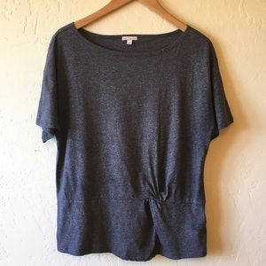 Gap Gathered Front Short Sleeve Top